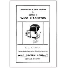 Stationary Engine Booklet - Parts List & Instructions for Series A Wico Magnetos