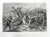 War of 1812 BATTLE OF LUNDY'S LANE HERO JAMES MILLER ~ 1860 Art Print Engraving