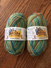 New listing Regia Flusi Socken-Monster Sock Yarn 2 Skeins #1800 Wool/Nylon