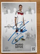 Mario Götze 1. AK DFB 2014 Autogrammkarte hinten original signiert