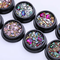 3D Mixed Glitter Nail Art Rhinestones Charming Gems Decoration Design DIY Tools