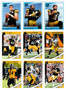 2018 PANINI DONRUSS PITTSBURGH STEELERS COMPLETE TEAM SET (13 CARDS) RUDOLPH