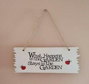 Wooden Garden Plaque