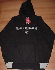 Oakland Raiders Hoodie Large Embroidered Logos Black Hooded Sweatshirt NFL