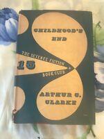 1955 Arthur C Clarke Childhood's End Dustwrapper First SF Book Club Edition