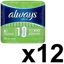 Always ultra normal Serviettes Hygiéniques coussinets taille 1 femmes absorbant