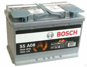 Genuine Bosch AGM Car Battery 0092S5A080 S5A08 Type 096 70Ah 760CCA Quality