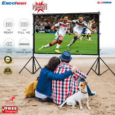"""120"""" Fabric Matte White Projector Projection Screen 16 9 3d Outdoor Home Theater"""