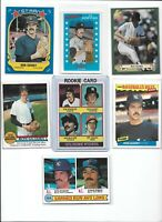 Ron Guidry Yankees Lot of (7) Different w/ 1976 Topps Rookie #599 EX