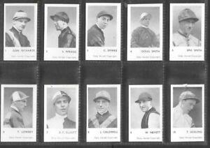 "DAILY HERALD 1955 ( HORSE RACING ) FULL 32 CARD SET """"  TURF PERSONALITIES  """""