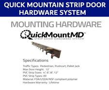 Quick Mount Strip Door hardware system - 2ft FDA/USDA/NSF compliant polymer