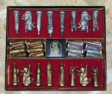 1962 CONQUEROR Sculptured™ Chess Set by Peter Ganine Gold & Silver Large Pieces