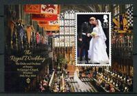 British Virgin Islands BVI 2018 MNH Prince Harry & Meghan 1v M/S Royalty Stamps