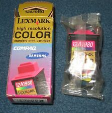 NEW Lexmark 12A1980 High Resolution Color Ink Cartridge
