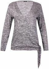 V Neck Casual Long Sleeve Tops & Shirts Plus Size for Women
