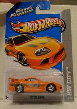 2013 Hot Wheels Fast & Furious Orange Toyota Supra HW City 5/250