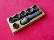 14 Stk Loch Stanzen Locheisensatz Lochwerkzeug Leder Gürtel Locher 5-35mm GF 08