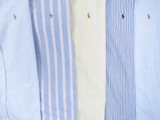 Lot of 5 Ralph Lauren Polo Long Sleeve Button Front Shirts Mens 15 M 2 NWOT