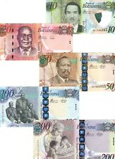 UNC Botswana 2012-18 Set 10 20 50 100 200 Pula P-31 32 33 34 35