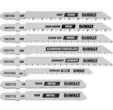 DEWALT Jig Saw Blade 8 Pack Jigsaw Blades Bi Metal T Shank Power Tool Cutting