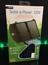 12 watt solar panel charger tablet phone portable usb home portable power