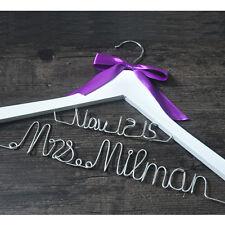 Custom Bridesmaid Hangers, Personalized Bridal Name Hanger, Wire Wedding Hanger