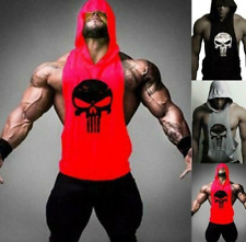 New Men's Gym Clothing Stringer Hoodie Bodybuilding Tank Top Muscle Hooded Shirt