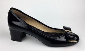 Michael Kors Womens Black Patent Leather Heels Sz US 8.5 EU 39