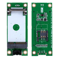 Mini PCI PCI-E Express to USB Interface With SIM Card Adapter 180 Degree New
