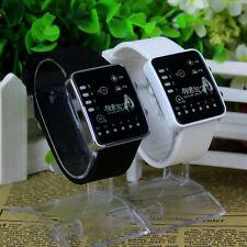 Anime Hatsune Miku LED Electronic Watch Glass Binary Wristwatch Black/White HOT