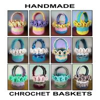 Hand Crochet Easter Baskets, Gift Baskets, Flower Pot Covers, Amish Made, NEW!!