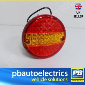 Camelot Automotive Round Rear LED Light Assemby Red/Orange CRRL 39