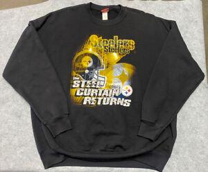 Vintage NFL Pittsburgh Steelers Football Crewneck Sweater Sweatshirt Jacket 2XL