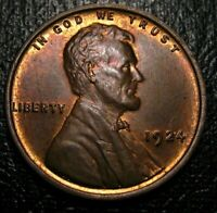 OLD US COINS UNCIRCULATED 1924 Lincoln Wheat One Cent PENNY BU UNC 1 C RED BROWN