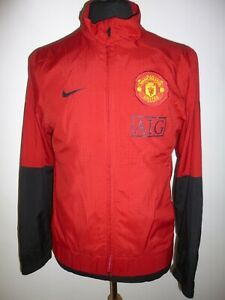 Men's NIKE Manchester United AIG Track Top Tracksuit Jacket Red Coat Size Small