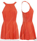 NEW Women Summer Ladies Sexy Celeb Playsuit Size 8 10 12 Shorts Orange Play suit