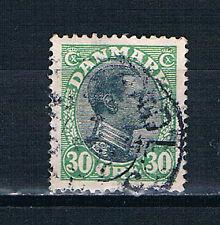 Denmark 1918 King Christian X 30 øre black and green o/GU SG 150 AFA 103