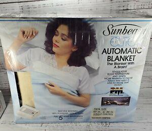 NEW Vintage Sunbeam Elite Automatic Heating Blanket twin Size winter