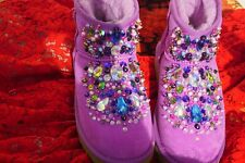 100% Authentic UGG Australia Authors Work Crystals Swarovski Boots  US 7 EU 38
