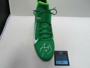 AARON RODGERS AUTOGRAPH SIGNED FOOTBALL CLEAT SHOE PACKERS WITH COA