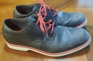 TIMBERLAND (3795) Grey Nubuck with Red & White Trim Men's Casual Shoes Size 10