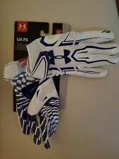 Under Armour F5 Football Receiver Glove White & Blue Size M HeatGear Brand NEW