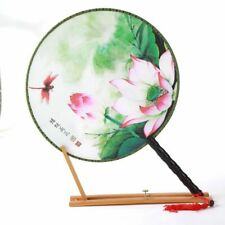 Flower Round Fan Dancing Home Decor Female Classical Vintage Chinese St_es