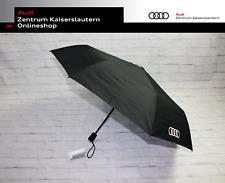 Audi Taschenschirm schwarz Regenschirm groß 3121900200 mit Knirps Audi Ringe