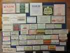 51+OLD PHARMACY-APOTHECARY-MEDICINE BOTTLE LABELS=NICE LARGE LABELS TOO=