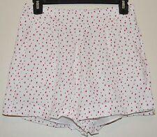 Lauren Conrad LC Disney Alice in Wonderland White Heart Pleat Front Shorts Sz XS