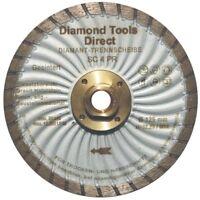 125 mm Diamantscheibe Diamant Trennscheibe Turbo Granit Beton mit Flansch M 14