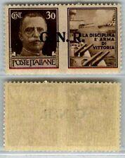 REPUBBLICA SOCIALE GNR-1944-30c Marina (17) Verona-MNH