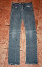 Tyte Junior Girls Skinny Jeans Size 1 Gold Thread Pockets