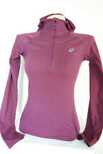 ASICS Women's Half Zip Hooded Top Pullover Womens Jacket Thermal Size XS